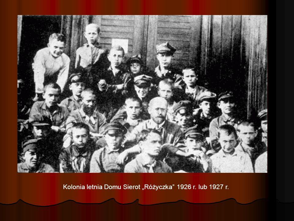 """Kolonia letnia Domu Sierot """"Różyczka 1926 r. lub 1927 r."""