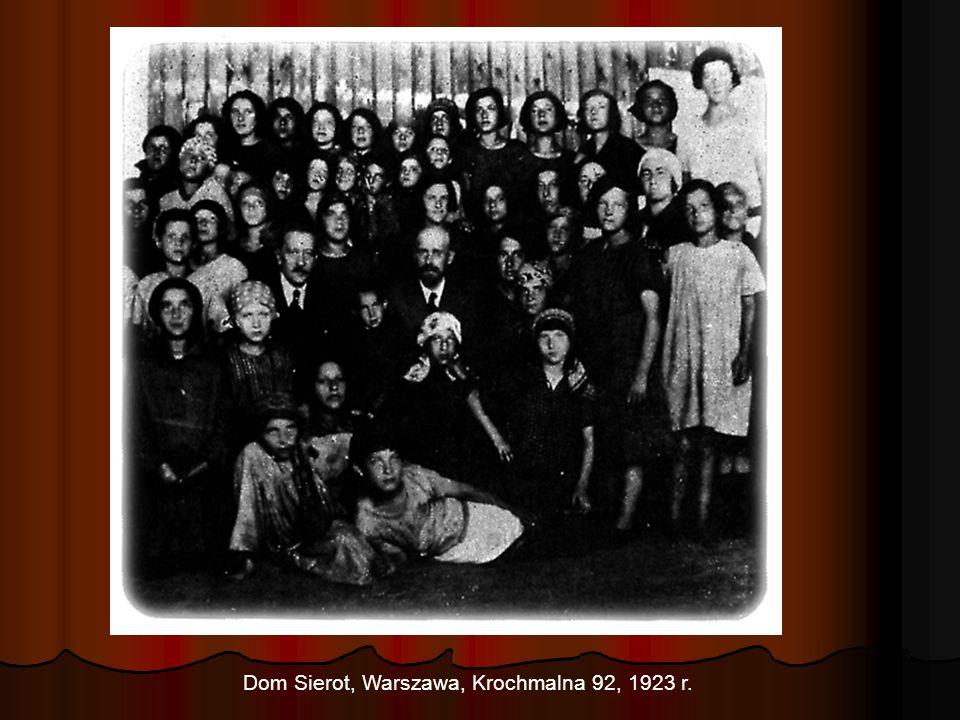 Dom Sierot, Warszawa, Krochmalna 92, 1923 r.