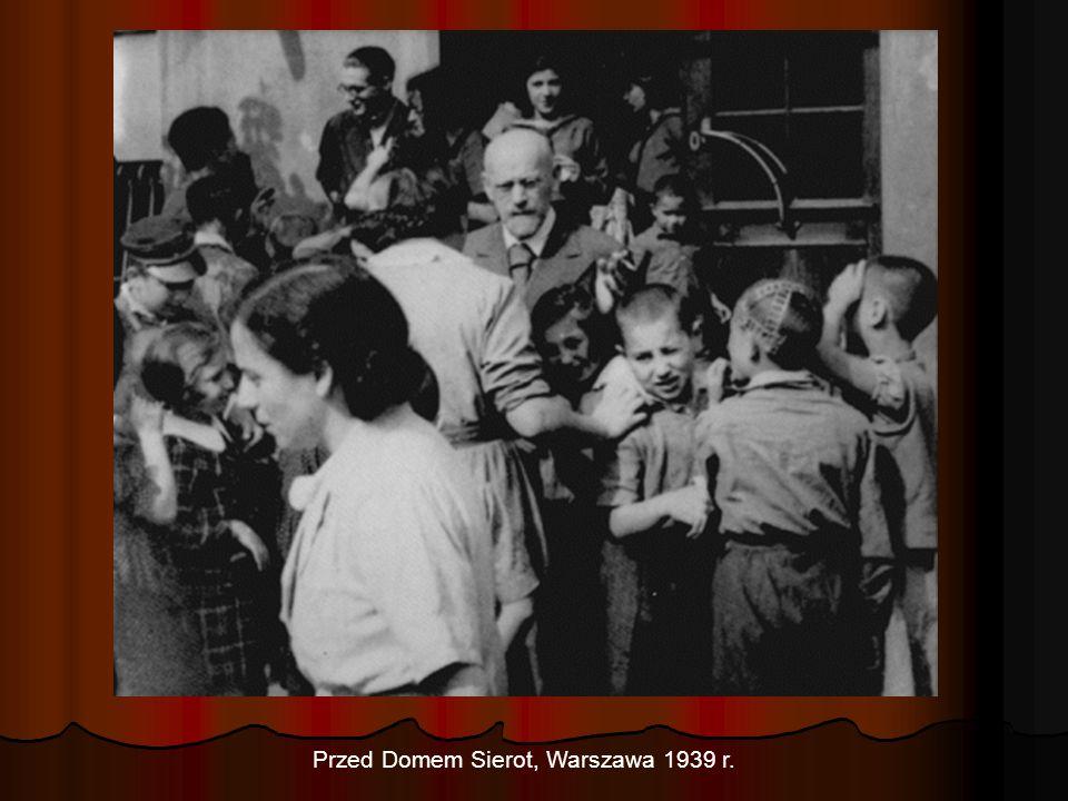 Przed Domem Sierot, Warszawa 1939 r.