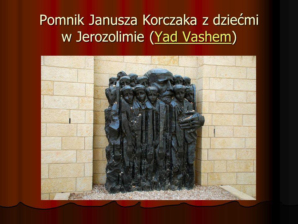 Pomnik Janusza Korczaka z dziećmi w Jerozolimie (Yad Vashem)