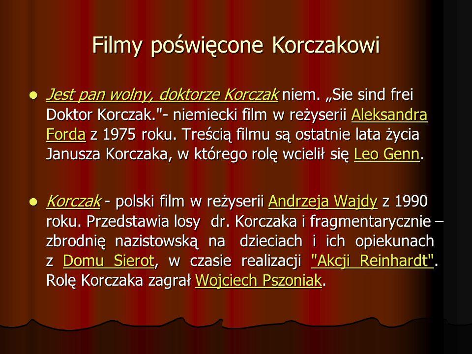 Filmy poświęcone Korczakowi