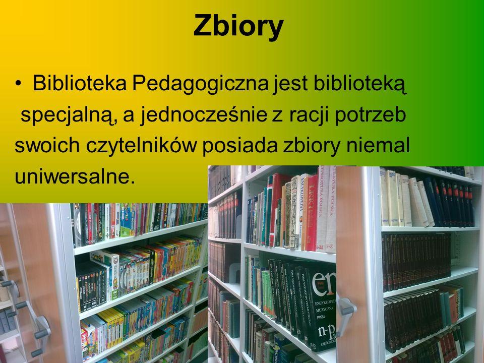 Zbiory Biblioteka Pedagogiczna jest biblioteką
