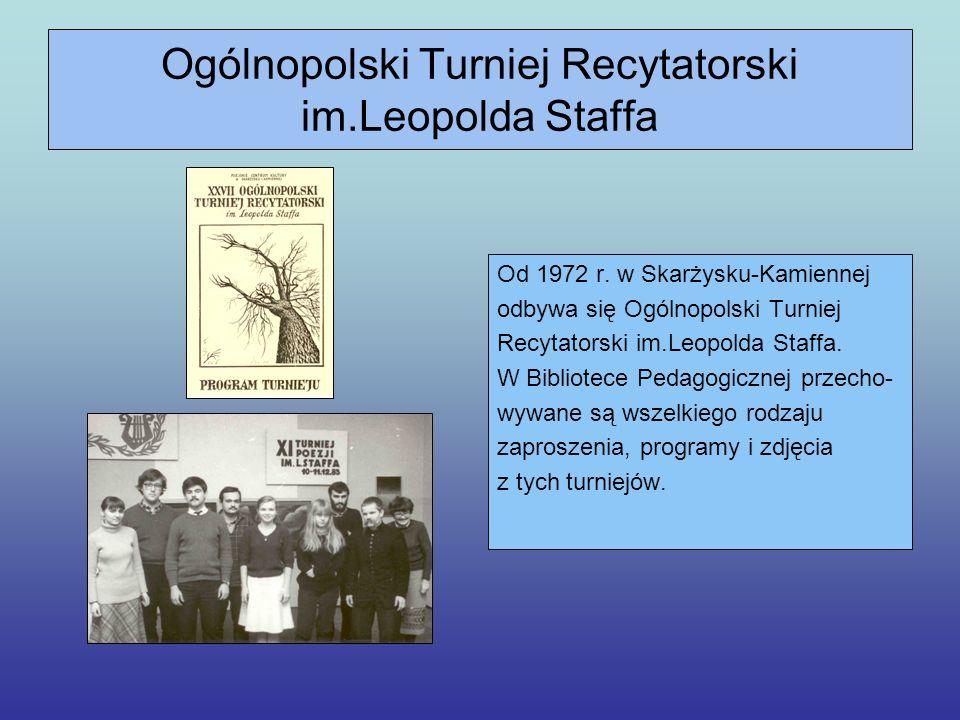 Ogólnopolski Turniej Recytatorski im.Leopolda Staffa