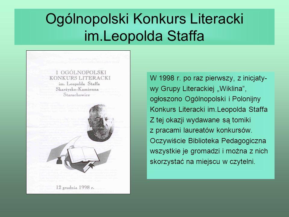 Ogólnopolski Konkurs Literacki im.Leopolda Staffa