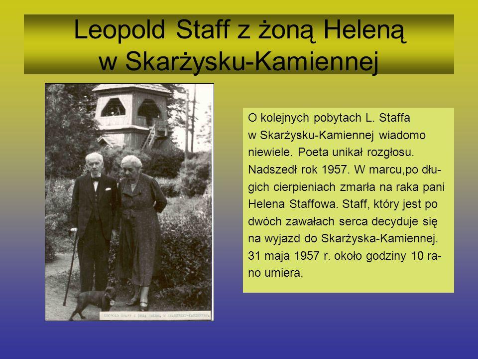 Leopold Staff z żoną Heleną w Skarżysku-Kamiennej