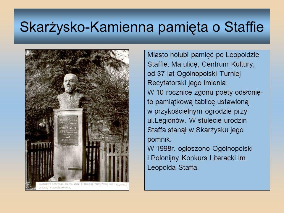 Skarżysko-Kamienna pamięta o Staffie