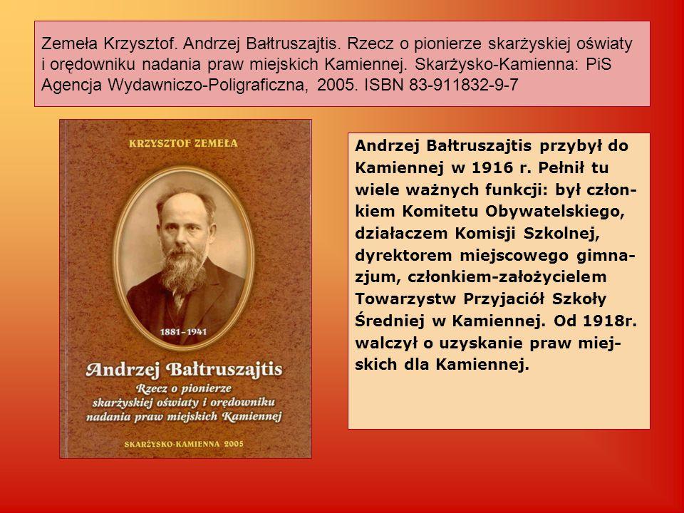 Zemeła Krzysztof. Andrzej Bałtruszajtis