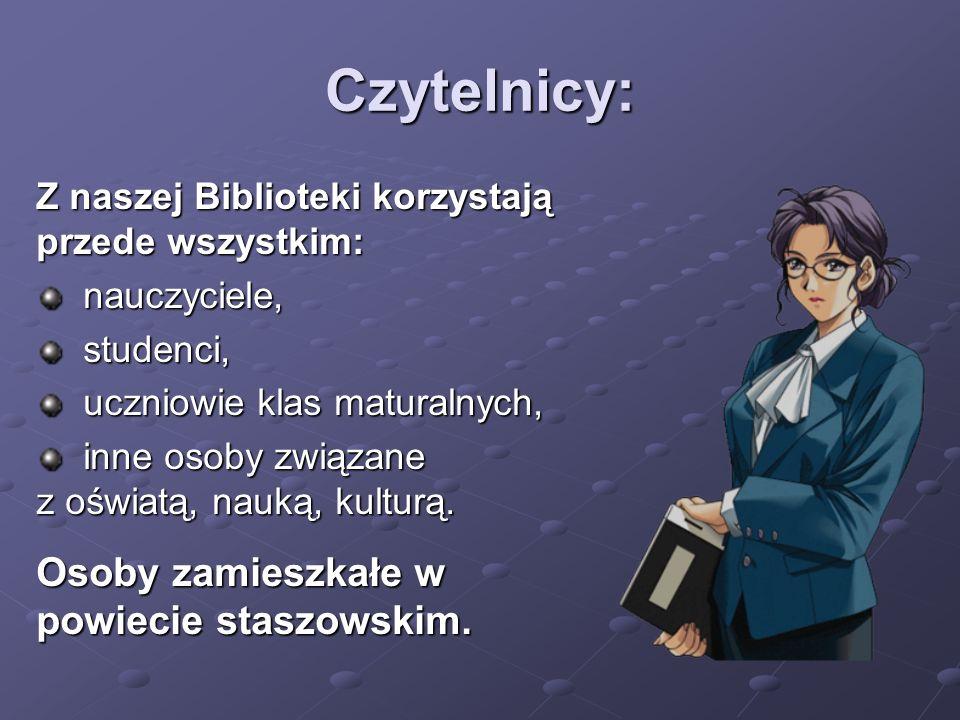 Czytelnicy: Osoby zamieszkałe w powiecie staszowskim.