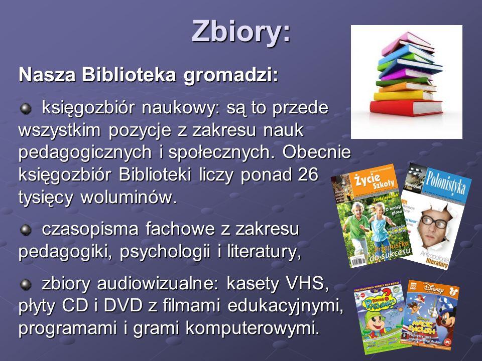 Zbiory: Nasza Biblioteka gromadzi: