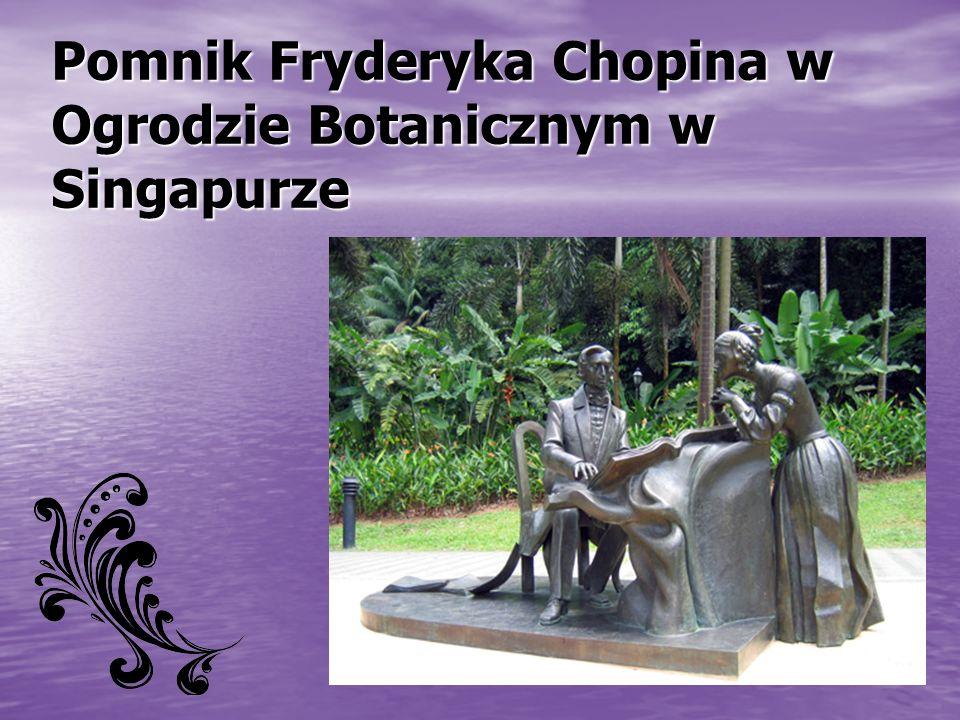 Pomnik Fryderyka Chopina w Ogrodzie Botanicznym w Singapurze