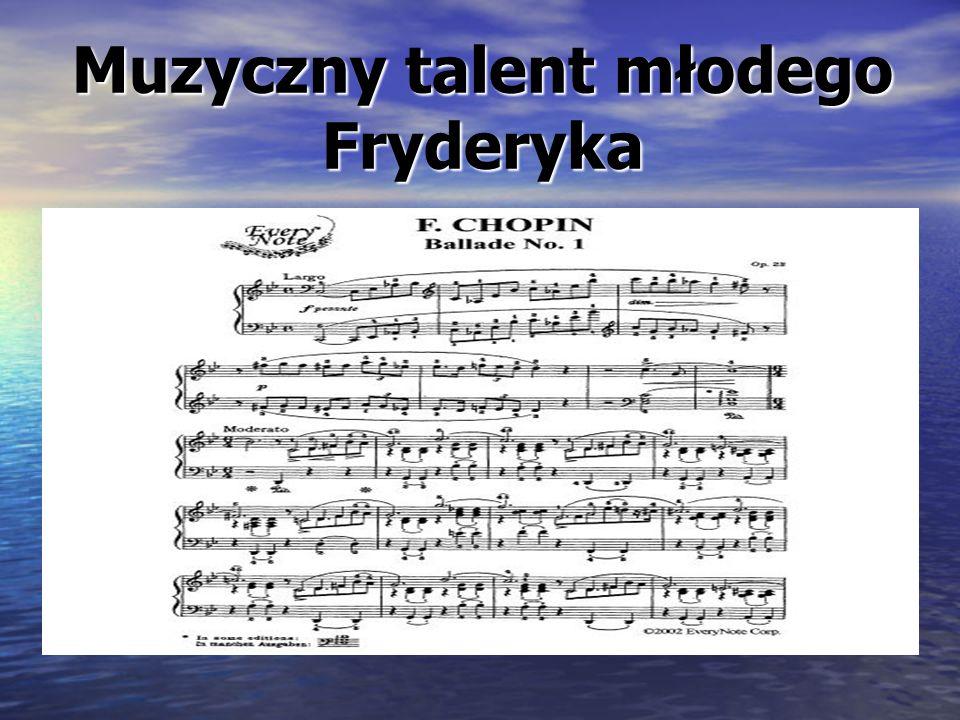 Muzyczny talent młodego Fryderyka