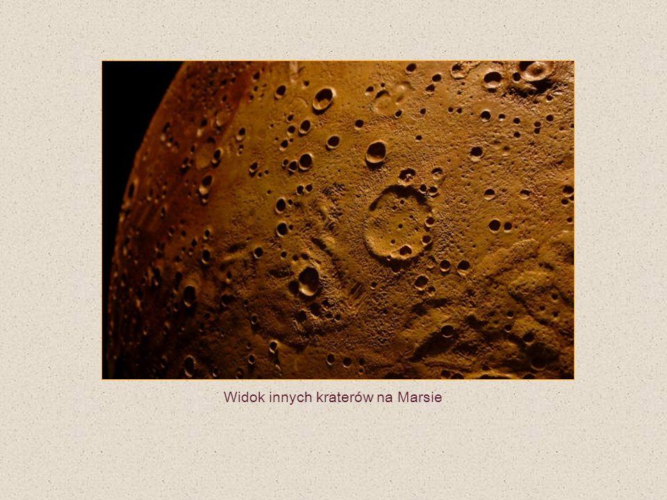 Widok innych kraterów na Marsie
