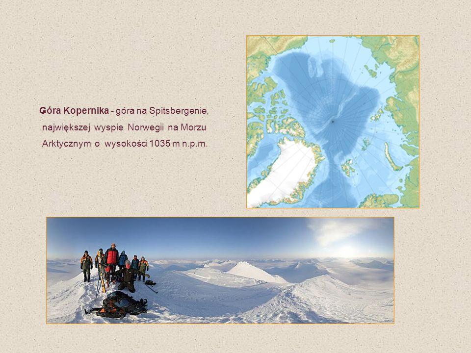 Góra Kopernika - góra na Spitsbergenie, największej wyspie Norwegii na Morzu Arktycznym o wysokości 1035 m n.p.m.