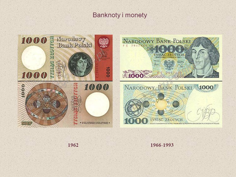 Banknoty i monety 1962 1966-1993