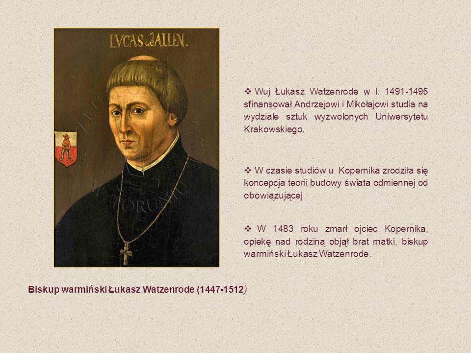 Biskup warmiński Łukasz Watzenrode (1447-1512)