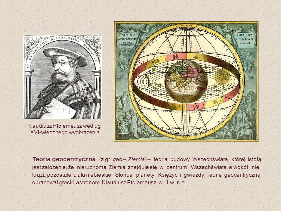 Klaudiusz Ptolemeusz według XVI-wiecznego wyobrażenia