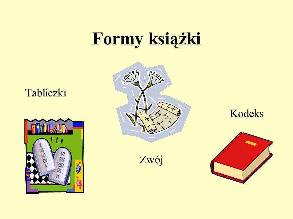 Formy książki Tabliczki Kodeks Zwój