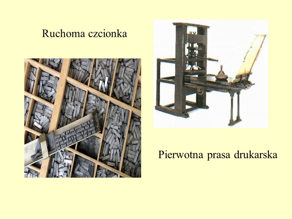 Ruchoma czcionka Pierwotna prasa drukarska