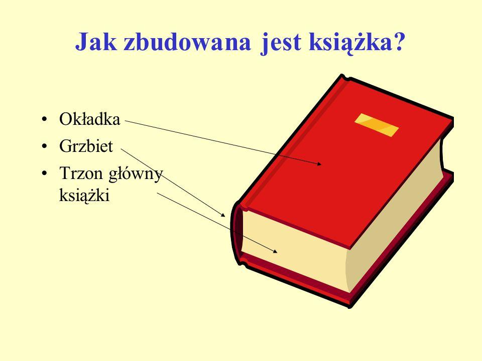 Jak zbudowana jest książka