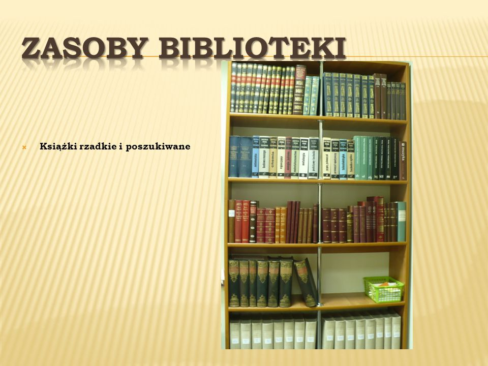 Zasoby Biblioteki Książki rzadkie i poszukiwane