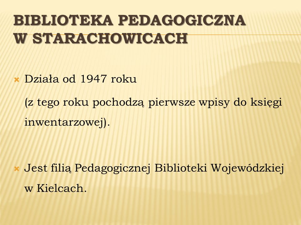 Biblioteka Pedagogiczna w Starachowicach