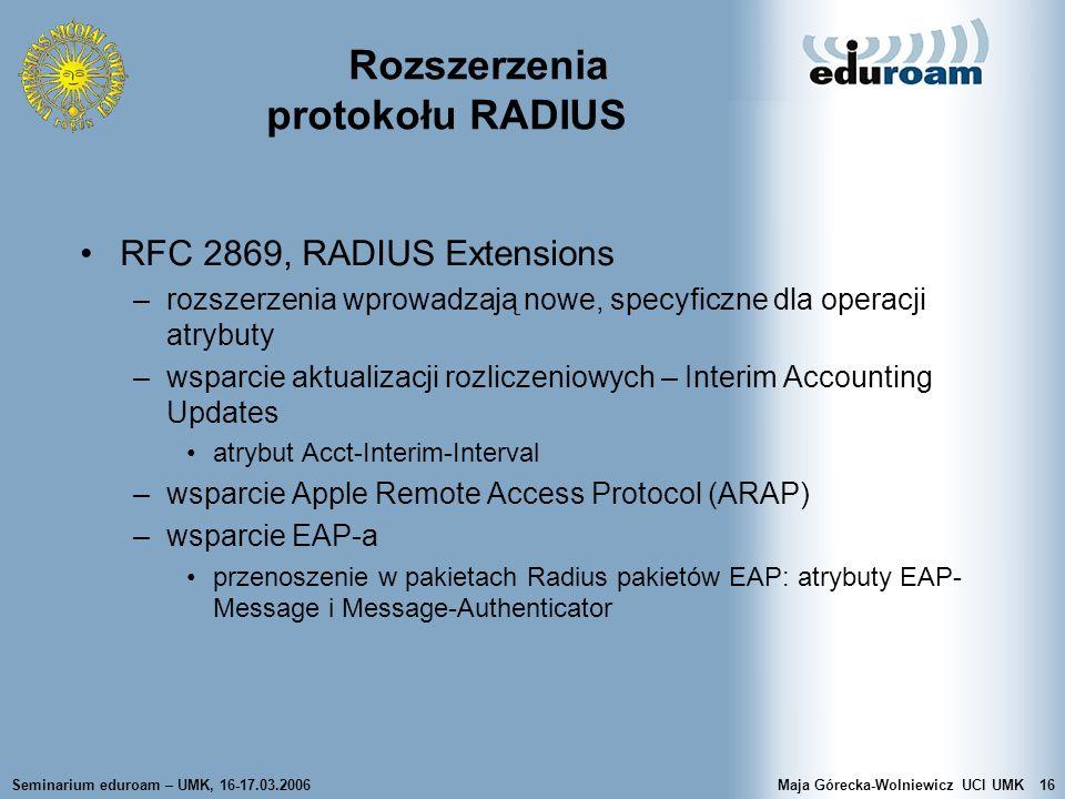 Rozszerzenia protokołu RADIUS