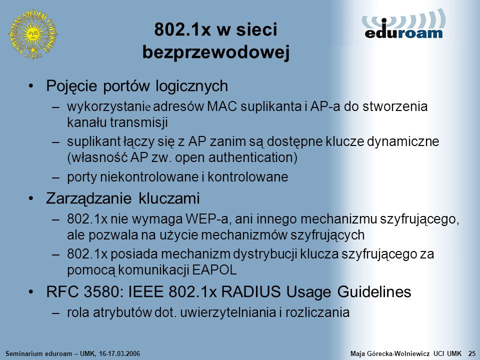 802.1x w sieci bezprzewodowej