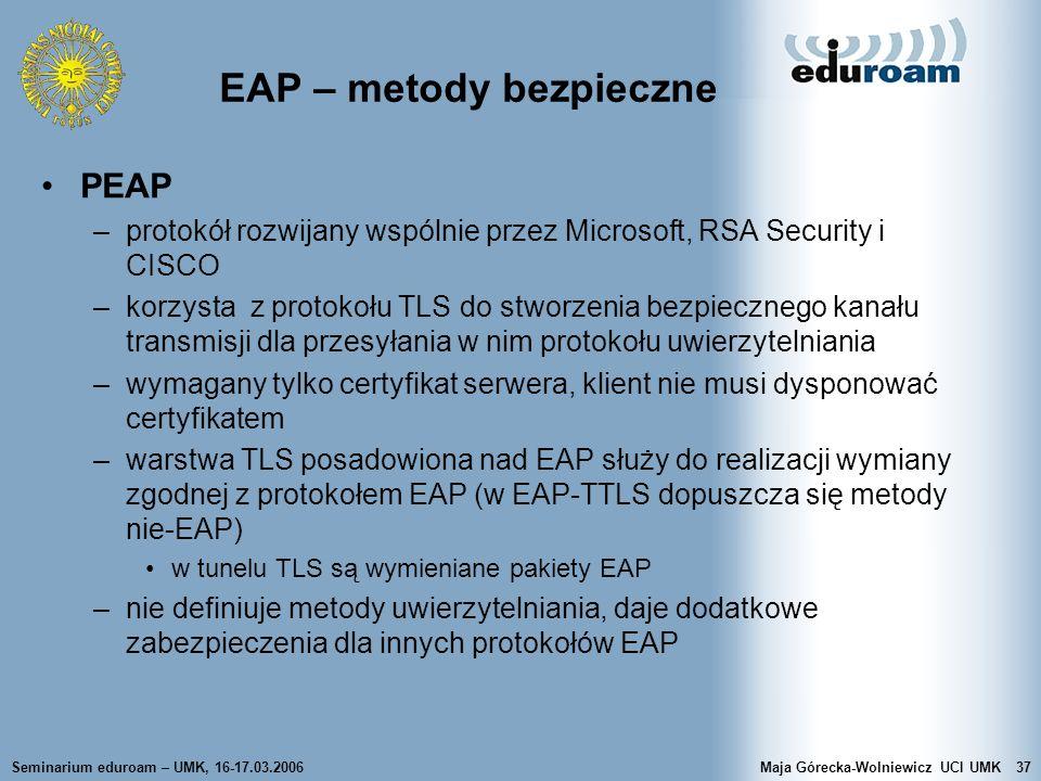 EAP – metody bezpieczne