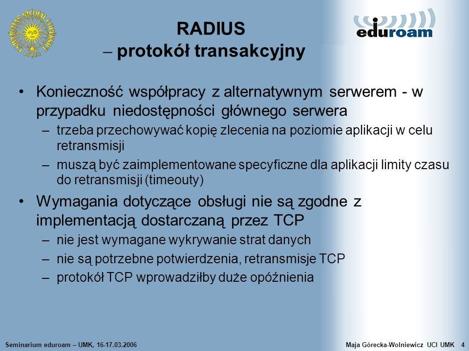 RADIUS – protokół transakcyjny