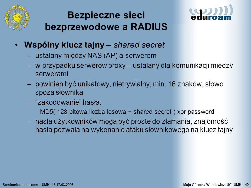 Bezpieczne sieci bezprzewodowe a RADIUS