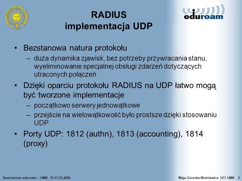 RADIUS implementacja UDP