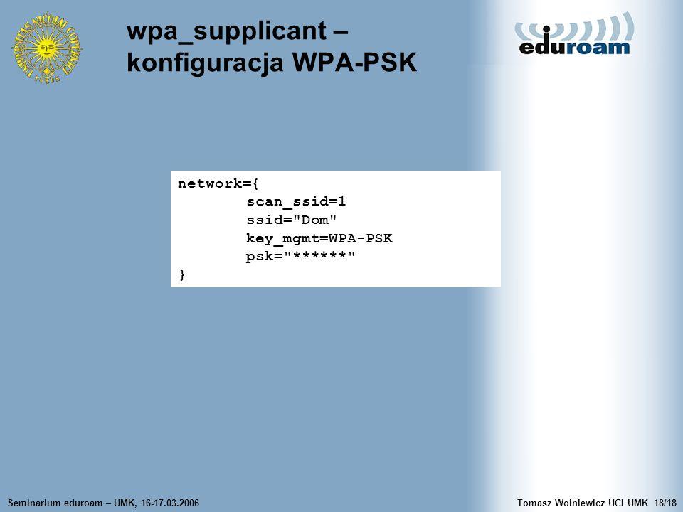 wpa_supplicant – konfiguracja WPA-PSK