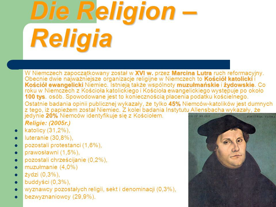 Die Religion – Religia