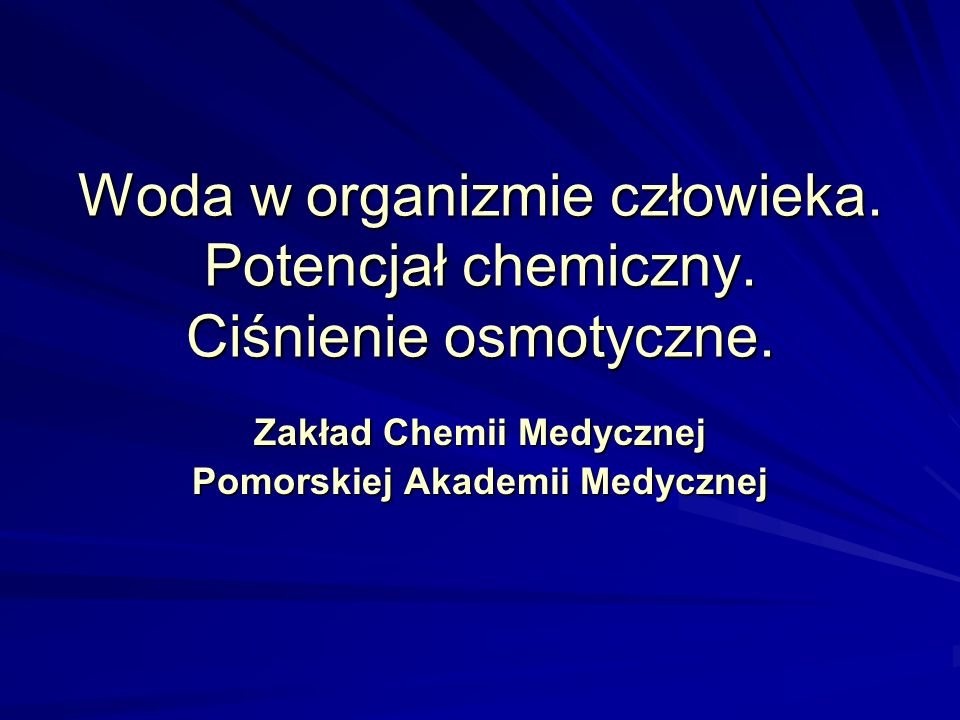 Zakład Chemii Medycznej Pomorskiej Akademii Medycznej