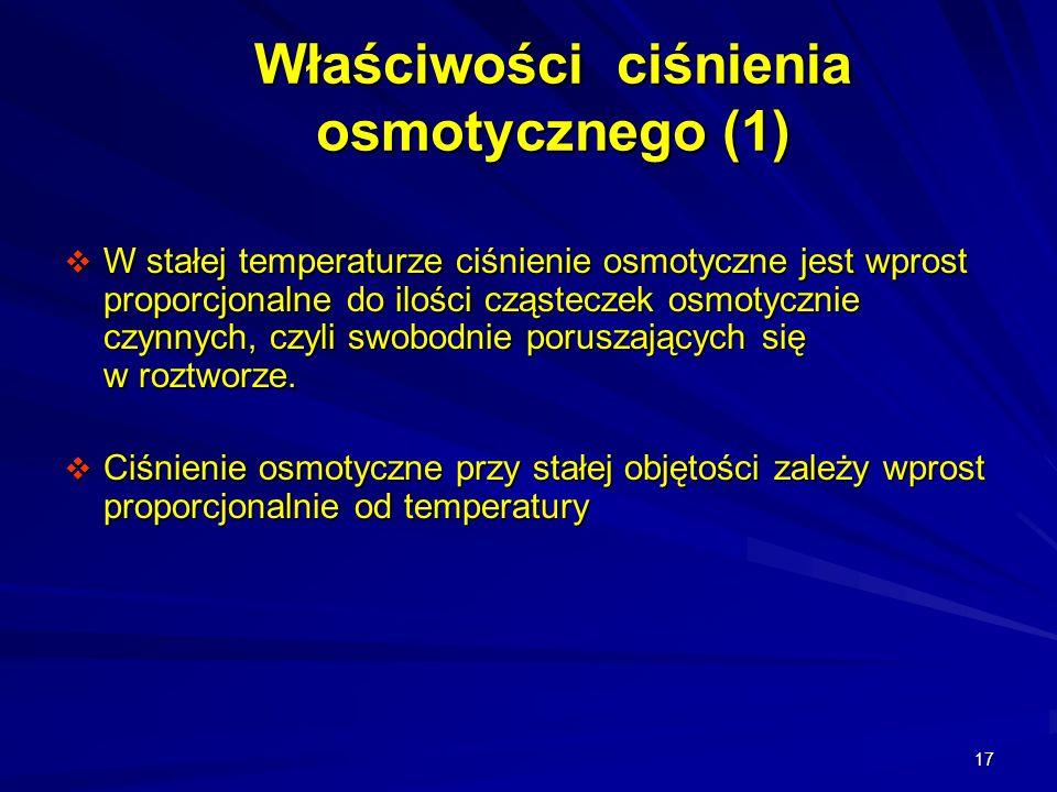 Właściwości ciśnienia osmotycznego (1)