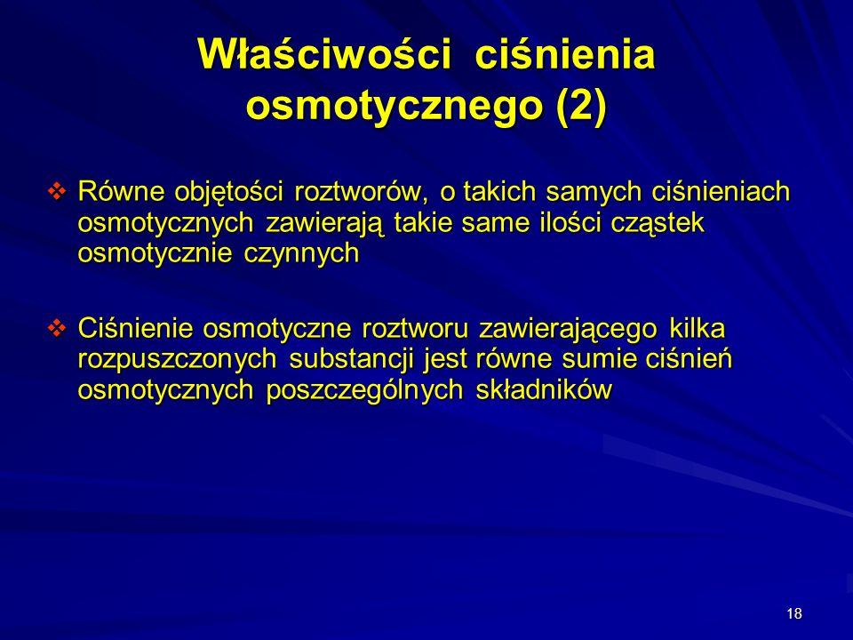 Właściwości ciśnienia osmotycznego (2)