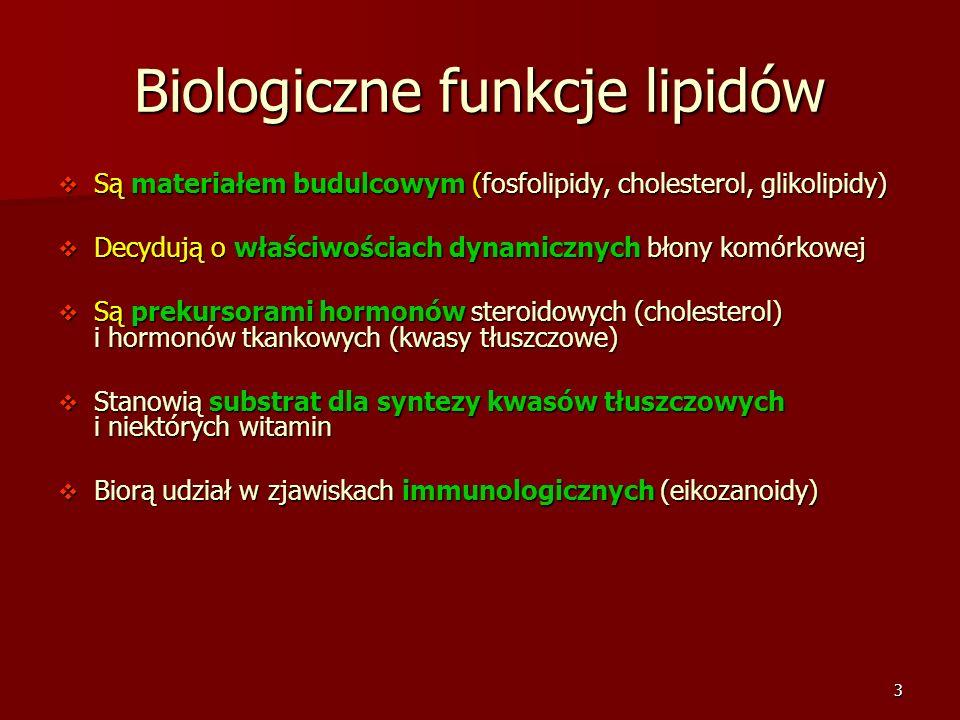 Biologiczne funkcje lipidów