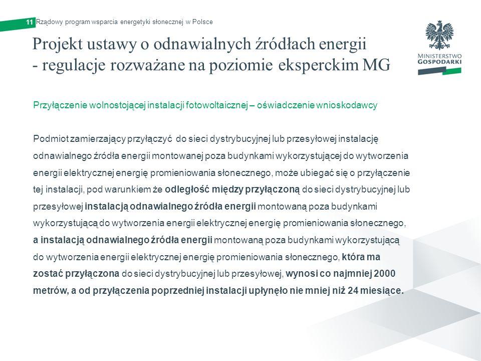 11 Rządowy program wsparcia energetyki słonecznej w Polsce.