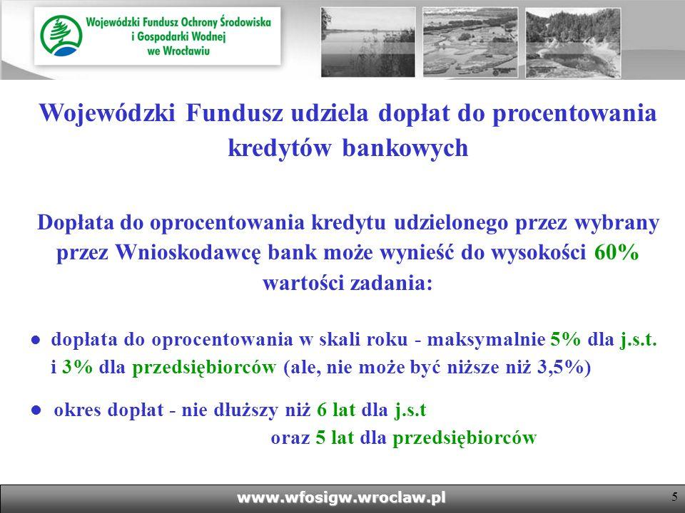 Wojewódzki Fundusz udziela dopłat do procentowania kredytów bankowych
