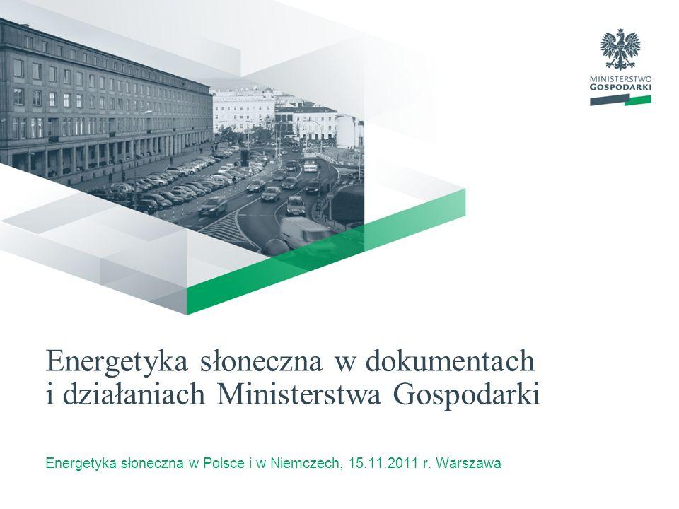 Energetyka słoneczna w Polsce i w Niemczech, 15.11.2011 r. Warszawa