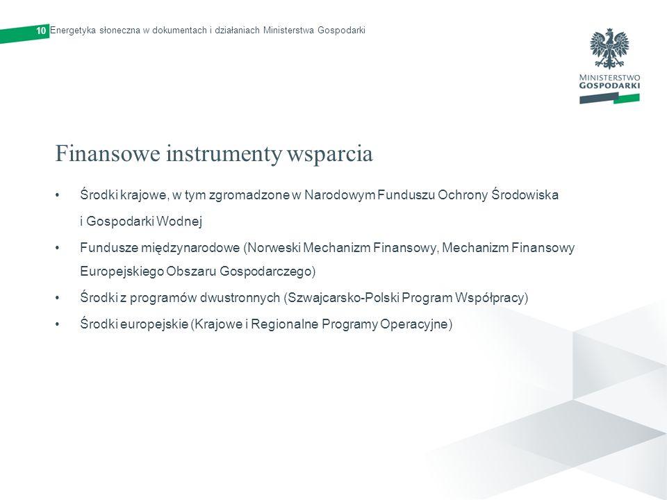 Finansowe instrumenty wsparcia