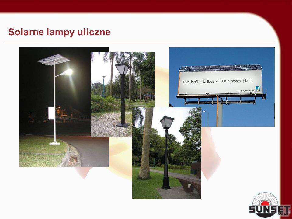 Solarne lampy uliczne