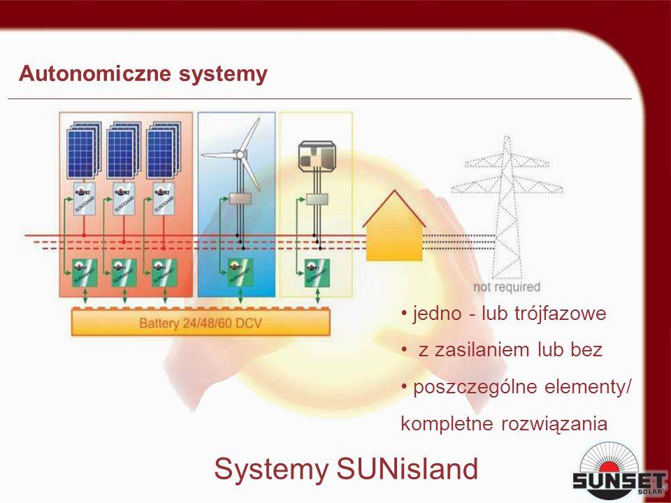 Systemy SUNisland Autonomiczne systemy jedno - lub trójfazowe