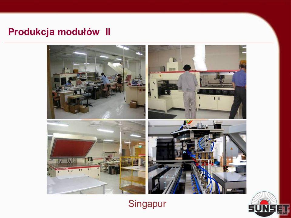 Produkcja modułów II Singapur