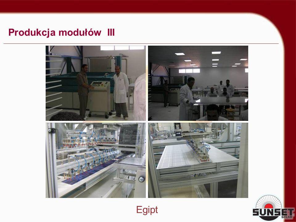 Produkcja modułów III Egipt