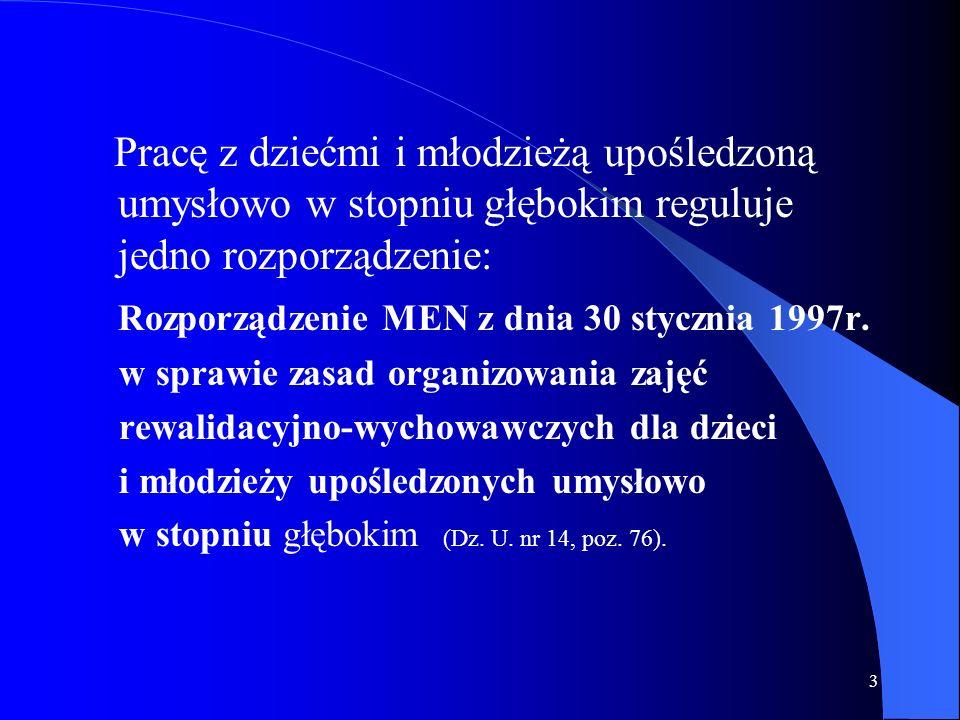 Rozporządzenie MEN z dnia 30 stycznia 1997r.