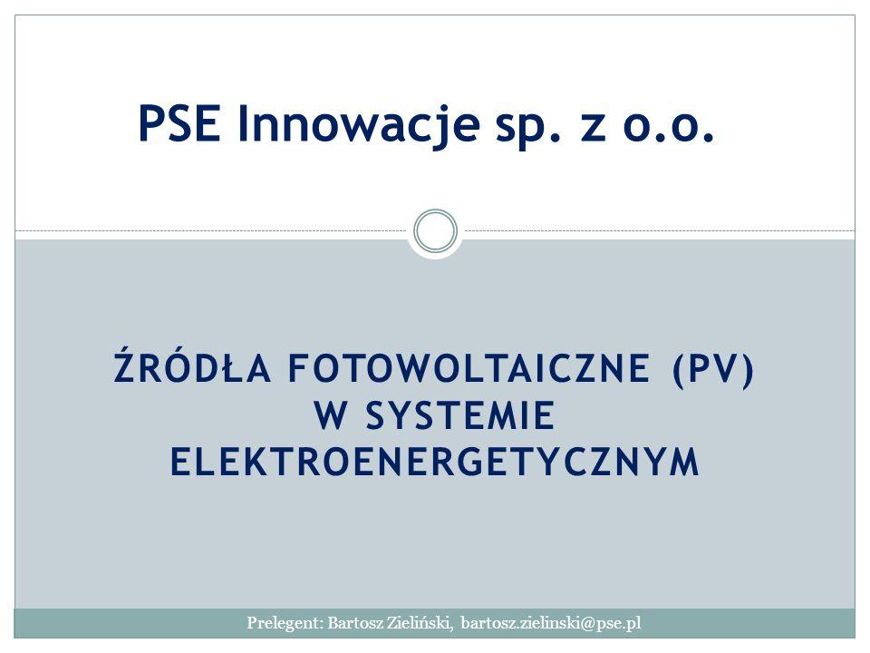 Źródła fotowoltaiczne (PV) w systemie elektroenergetycznym