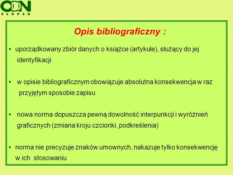 Opis bibliograficzny :