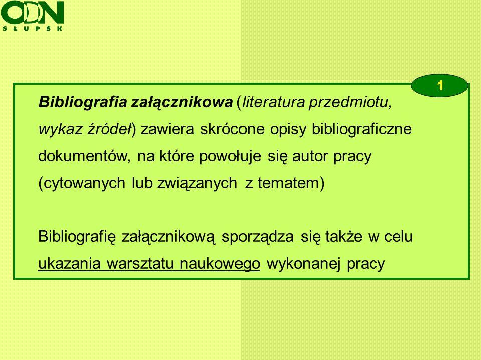 Bibliografia załącznikowa (literatura przedmiotu,