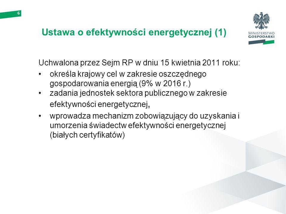 Ustawa o efektywności energetycznej (1)
